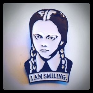 Wednesday Adams I am smiling hat pin
